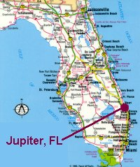 florida map with jupiter